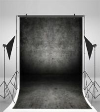 Gradient Gray Black 5x7ft Photography Backgrounds Retro Studio Vinyl Backdrops