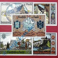 5 x Notgeld Saalfeld , german emergency money , M/G 1155.5 , in kfr/unc