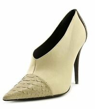 Narciso Rodriguez 83SH76F Womens Sz 37.5 Ivory Leather Booties New/Display $1480