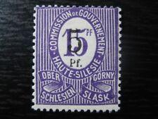 OBERSCHLESIEN UPPER SILESIA GERMAN PLEBISCITES Mi. #10F mint stamp! CV $240.00