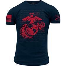 Grunt estilo USMC-Rifleman 's Creed Camiseta-Azul Marino