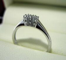Anello fedina Trilogy oro bianco 18kt. diamanti 0.18 naturali certificati donna