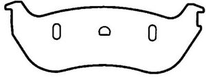 Disc Brake Pad Set-Newtek Rear Federated CD1103