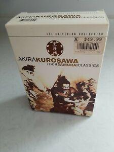 Akira Kurosawa Four Samurai Classics dvd Yojimbo Sanjuro Seven Hidden Criterion