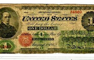 """$1 1862 """"LEGAL TENDER"""" (UNITED STATES NOTE) $1 1862 """"LEGAL TENDER"""" NICE NOTE!"""