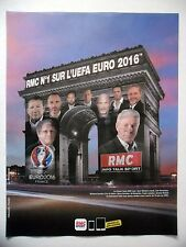 PUBLICITE-ADVERTISING :  RMC UEFA Euro  2016 Radio,Arc de Triomphe,Football
