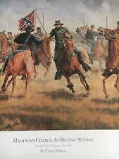 Hamptons Charge At Brandy Station Limited Edition Civil War Print Clyde Heron