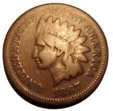 Old US Coins 1867 Indian Head One Cent Penny 1 c