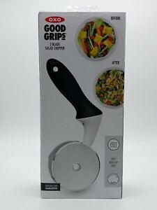OXO Good Grips Stainless Steel Sharp 2 Blade Salad Chopper. Free Shipping
