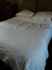 duvet cover kingsize, blue and white striped and 2 matching pillow cases
