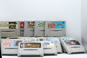 Lot of 30 UNIQUE Super Famicom Games. Jump start your collection!