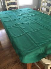 """Tablecloth Textured Solid Green 56 X 96"""" Oblong"""