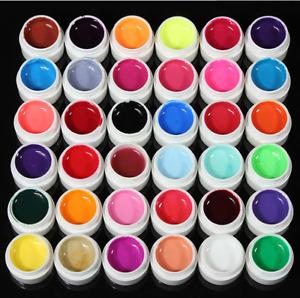36 Pot Pure Colors Gel UV Nail Art Tips Estensione copertina lucida Gel Soak off