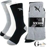 3-12 Pairs Mens Athletic Sports Cotton Comfort Work Crew Socks Size 9-11 10-13