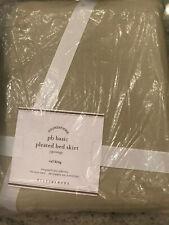"Pottery Barn Pb Basic Pleated Bedskirt Cal King 18"" Drop Natural New"