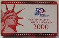 2000 US Mint Silver Proof Set 9 Coins w/ Box and COA
