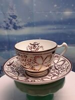 Copper luster ware Gray's Pottery Stroke-on-Trent England Tea Cup and Saucer