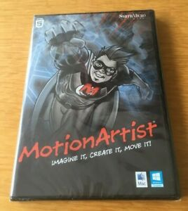Motion Artist. Dvd Rom. NEW SEALED. Software. Windows 7 or 8. Mac. Smith Micro