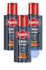 3 x ALPECIN C1 caffeina Shampoo 250ml. stimola le radici dei capelli,