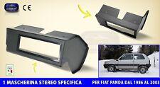 Mascherina Autoradio Fiat Panda 4x4 dal 1986 al 2003 per stereo audio auto radio