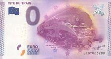 BILLET 0€ SOUVENIR TOURISTIQUE, N° rond 6200, CITE DU TRAIN, 2015
