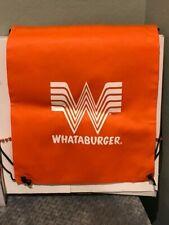 Orange Whataburger Drawstring Backpack Bag