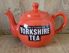 More details for rare taylors of harrogate yorkshire tea iconic red orange tea pot