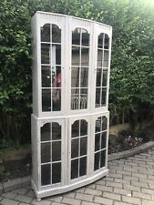 Quality Vintage Shabby Chic Painted Glazed Storage Cabinet Cupboard Annie Sloan