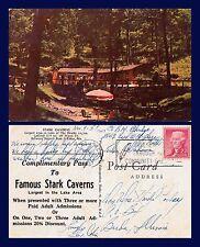 US MISSOURI STARK CAVERNS NEAR ELDO & BAGNELL DAM NOV 9 1957 TO BUDA, ILLINOIS