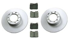 Mercedes W123 300D 1979-1985 Front Disc Brake Rotors & Pads Kit High Quality