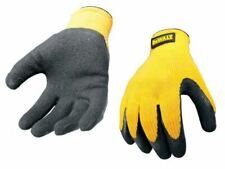 DPG70L Yellow Knit Back Latex Gloves - Large DEWGRIPPER