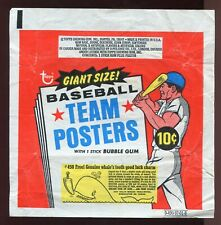1969 Topps Team Posters Baseball 10-Cent Wax Pack Wrapper VERY NICE
