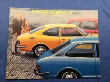 1972 Toyota Corolla Catalog Sales Brochure Sedan Coupe Wagon Nice Original 72