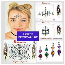 FESTIVAL FACE GEM Job lot- BINDI-Stick On-Temporary TATTOO -GLITTER BODY JEWEL A