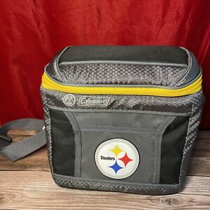 Pittsburgh Steelers Coleman 9-Can 24-Hour Soft-Sided Cooler NFL EUC
