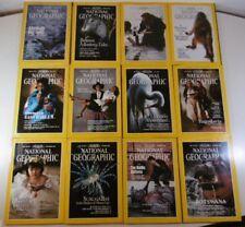 F411 RIVISTE NATIONAL GEOGRAPHIC ANNATA ANNO 1990 COMPLETA INGLESE 12 volumi