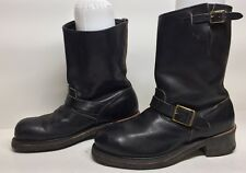 #M MENS IRON AGE STEEL TOE ENGINEER LEATHER BLACK BOOTS SIZE 8.5 D