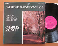VICS 1508 Saint-Saens Symphony no. 3 Organ Charles Munch Boston RCA Stereo NM/VG