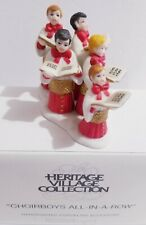 """Department 56 Heritage Village Collection """"Choirboys All-In-A-Row"""" #58892 New"""