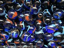 """Marble Bulk Lot 2 Pounds 1"""" Dragonfly Multi Striped Mega Marbles Free Shipping"""