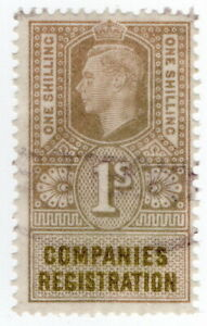 (I.B) George VI Revenue : Companies Registration 1/-