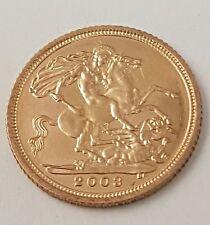 (1) oro Elizabeth 2003 Mezza Sovrano Moneta