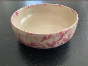 "BYBEE POTTERY PINK & BEIGE SPLATTERWARE 5-1/2"" BOWL - MAY BE A ""SECOND"""