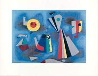 Willi Baumeister Formen auf blauem Grund Poster Kunstdruck Bild 70x90cm
