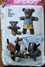 SET OF PLUSHY PETS (1971)