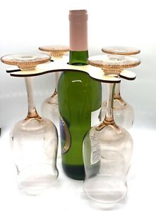Wine Butler/Wine Glass Carrier For 4 Glasses Finished Maple Wood