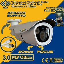 Telecamera Varifocale Bullet 3.0 MP / 1080P AHD Focale 2,8 - 12mm 40/50 Metri