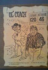 Vintage Glen Zulauf Old Coach High School Basketball ref bashing wooden picture