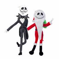 2pcs The Nightmare Before Christmas Santa Jack and Jack Skellington Plush Doll