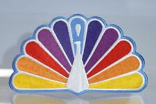 "The Original NBC Peacock (1962-1986) Embroidered Patch 10"" x 6"" very rare"